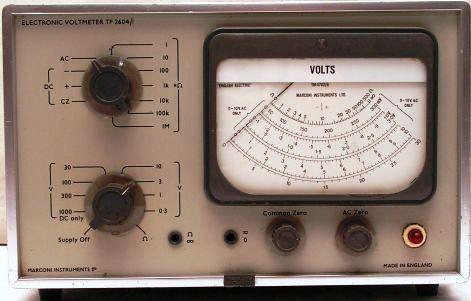 MARCONI TF2604/1 VOLTMETER   gy. év:1960