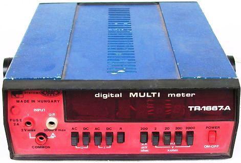 DIGITÁL MULTI METER  TR-1667-A