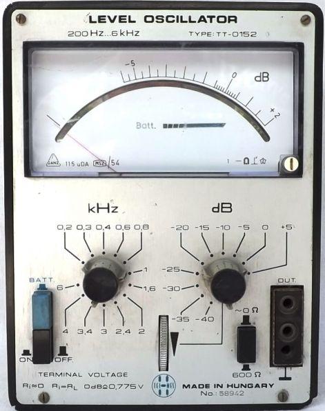 TT-0152 Level oszcillátor