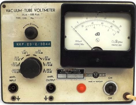 VACUM-TUBE VOLTMETER TYPE:1315